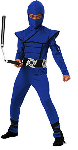 Silent Assassin Mortal Warrior Jumpsuit Halloween Ninja Costume Child Boys