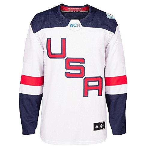 MEN'S USA HOCKEY ADIDAS WHITE 2016 WORLD CUP OF HOCKEY PREMIER BLANK JERSEY (X-Large) ()