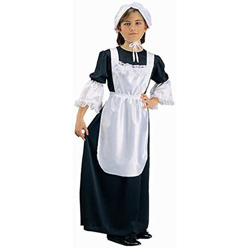 [Child's Colonial Pilgrim Girl Costume (Size: Small 46)] (Boy Pilgrim Costumes)