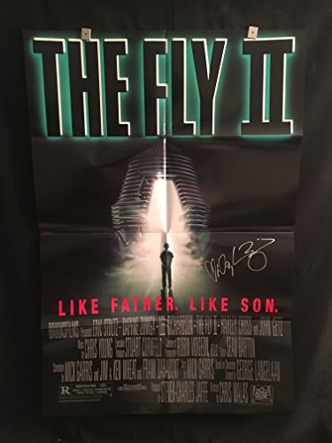 The Fly 2 1989 Daphne Zuniga Signed Autographed Original Vintage One Sheet Movie Poster, Horror
