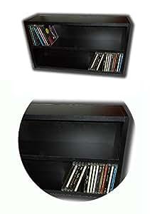 Mueble Estanteria de madera negra para guardar 100 CD Compact Disc / Ref. MAR035