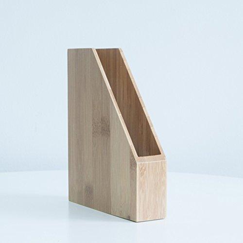 - Wayer Bamboo Magazine Holder, Wood Magazine Holder File Rack Desktop File Storage Vertical a5 Classification Creative Houseware Office Supplies-A 16x3.6x19cm(6x1x7inch)