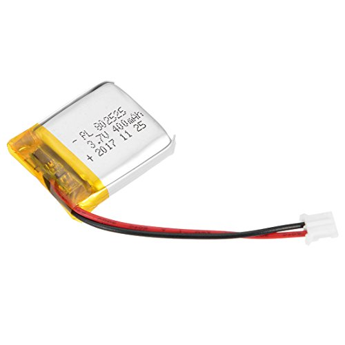 uxcell Power Supply DC 3.7V 400mAh 802525 Li-ion Rechargeable Lithium Polymer Li-Po Battery