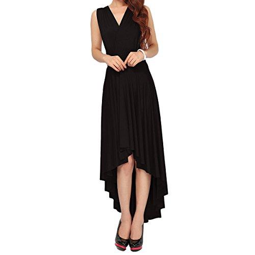 Little Convertible Dress Black (Women Transformer Infinity Evening Dress Multi-Way Wrap Convertible Halter Maxi Floor Long Dress High Elasticity)