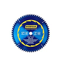 Overpeak 60 Tooth Diablo Ultra Fine Circular Saw Blade for Wood and Wood Composites, 12-Inch