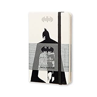 "Moleskine Limited Edition Batman Notebook, Hard Cover, Pocket (3.5"" x 5.5"") Ruled/Lined, White"