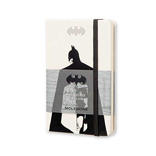 Moleskine Batman Limited Edition Notebook, Pocket, Ruled, White, Hard Cover (3.5 x 5.5) by Moleskine