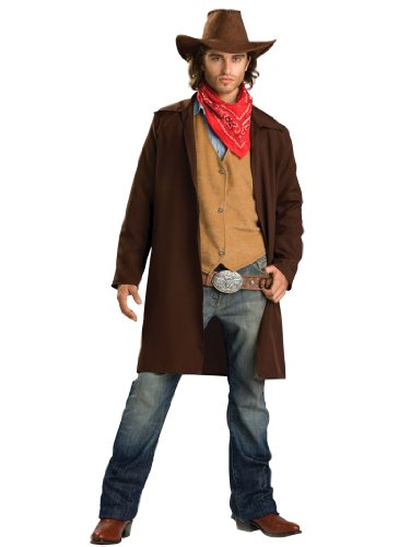 Summitfashions Cowboy Costume Jacket Wild West Gun Slinger Ranger Theatrical Mens Costume Sizes: Large -