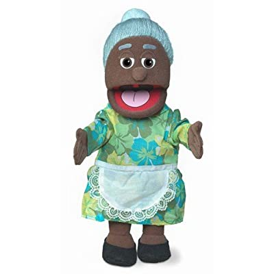 "14"" Granny, Black Grandmother, Hand Puppet"