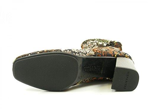 Penelop Hispanitas Botines Boots de HI75708 mujer cuero Ankle Schwarz para Owvqwrd