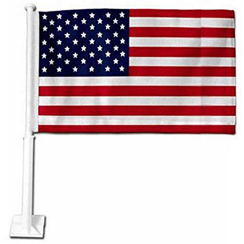 (USA Red, White and Blue Car Flag)