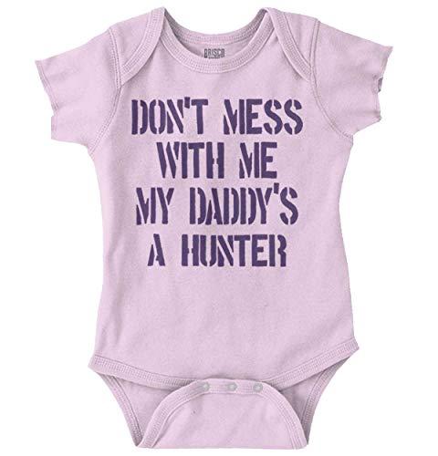 - Dont Mess Daddys Hunter Funny Newborn Romper Bodysuit Pink