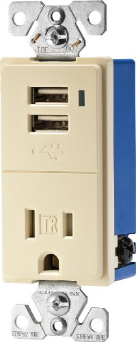 Eaton TR7740A-K Combination USB Charger with Tamper Resistan
