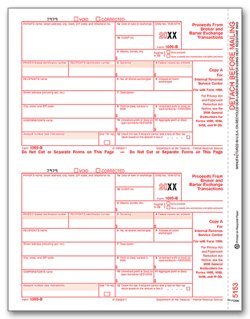 EGP IRS Approved 1099-B Laser Fed Copy A Tax Form