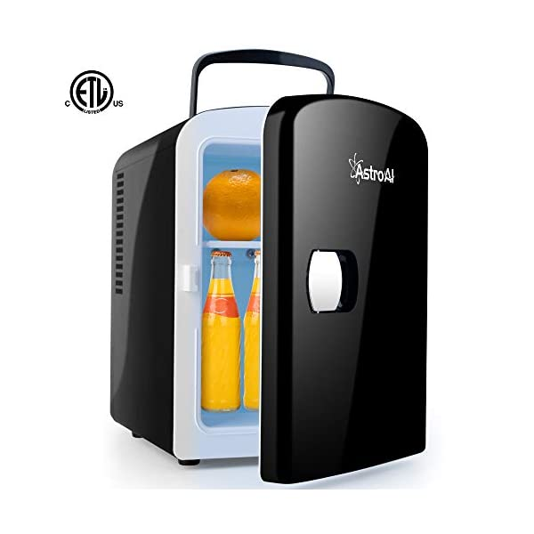 AstroAI Mini Fridge Portable AC/DC Powered Cooler and Warmer 4 Liter/6 Can for Cars, Homes, Offices, and Dorms