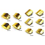 Meijunter Universal Clipper Limit Comb for Wahl 100 Year (#81919)/8148/8504/08148 / Kemei/Babyliss - Replacement Profession Hair Trimmer Guards 10 Pcs