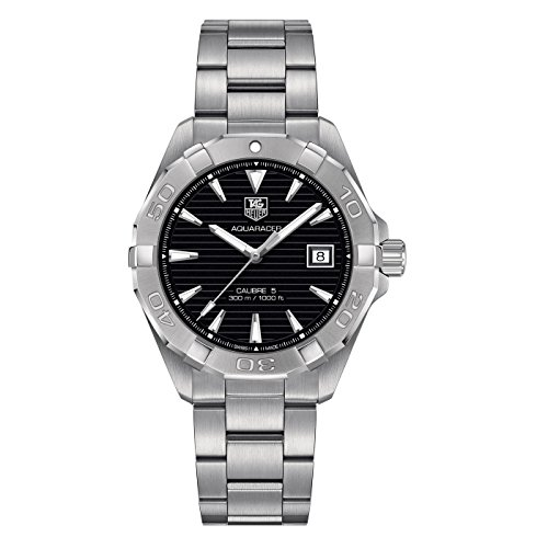 TAG Heuer Men's 'Aquaracer' Swiss Automatic Stainless Steel Dress Watch (Model: WAY2110.BA0928) - 412xd7Az 2BnL - TAG Heuer Men's 'Aquaracer' Swiss Automatic Stainless Steel Dress Watch (Model: WAY2110.BA0928)