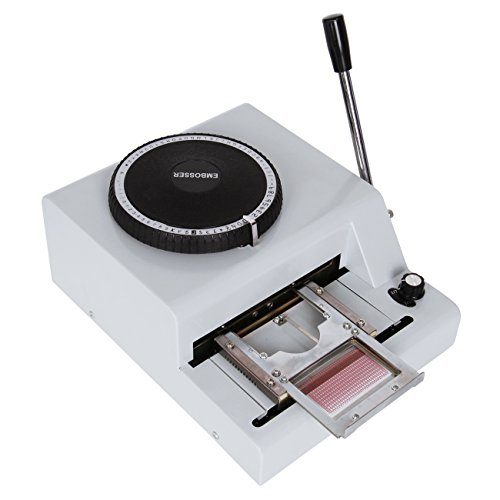 Ambienceo Multi-functional 72 Characters Manual Embosser Code Embossing Stamping Machine for PVC Card VIP Card Credit Card Gift Card by Ambienceo
