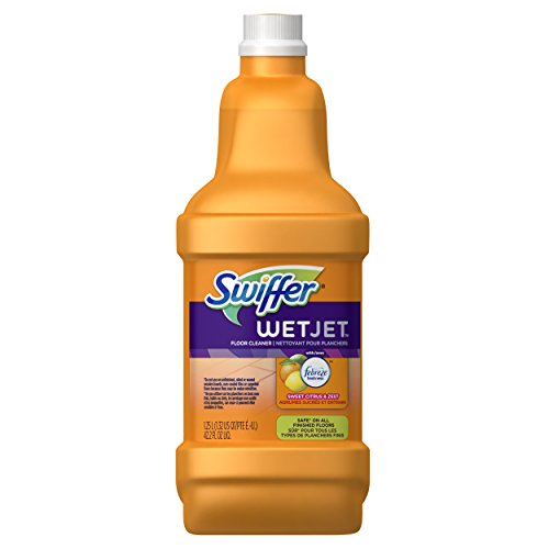 (Swiffer Wetjet Multi-Purpose Floor Cleaner Solution Refill, Sweet Citrus and Zest, 1.25 Liters)