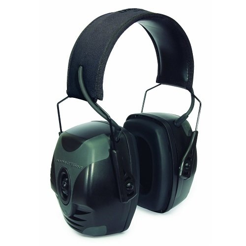 2. Howard Leight by Honeywell Impact Pro Sound Amplification Electronic Shooting Earmuff, Black & Grey (R-01902)