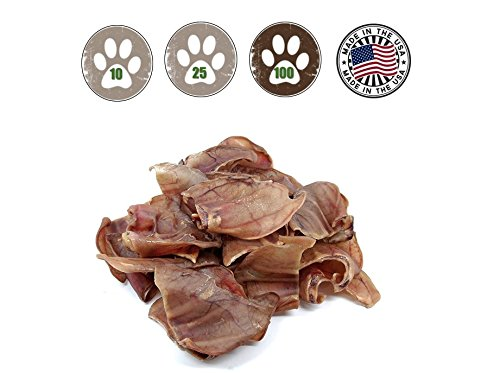 - Top Dog Chews Pig Ears for Dogs Full Uncut 100 Pack