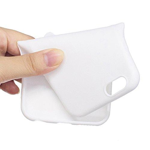 iPhone 6 6S Custodia , Moda 3D Cane Nero Silicone leggero Morbido TPU Sollievo Sottile Protezione Antiurto Copertura Antiscivolo Resistente Coperture Cover Case Custodia per Apple iPhone 6 6S