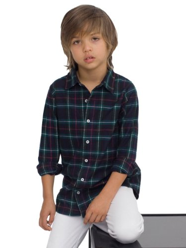 American Apparel Youth Flannel Long Sleeve Button-Up - Charles Flannel Plaid / 8 Years