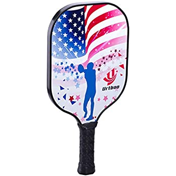 Urtboo Pickleball Paddle, Graphite Face Honeycomb Composite Core Low Edge Guard Premium Grip Light Weight 7oz- 8 OZ,Pickleball Racket Good Choice for ...