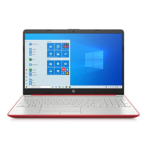 2020 HP 15.6″ HD LED Display Laptop, Intel Pentium Gold 6405U Processor, 4GB DDR4 RAM, 128GB SSD, HDMI, Webcam, WI-FI, Windows 10 S, Scarlet Red