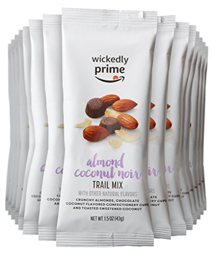 Wickedly Prime Trail Mix, Almond Coconut Noir, Snack Pack, 1.5 Ounce (Pack of 15)