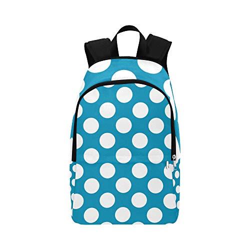 (Backpack Shoulder Bag Many Blue Polka Dot for Men Women Teachers Bookbag Laptop Backpack Lightweight School Camping for Traveler)