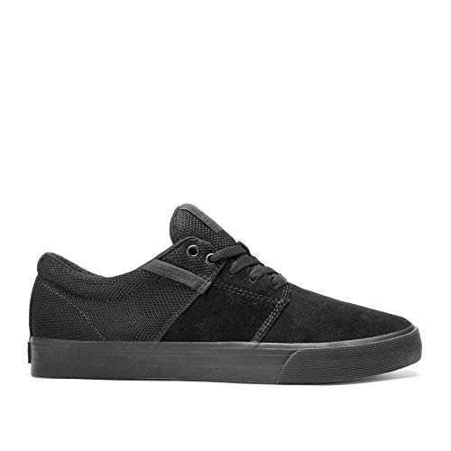 Supra Footwear - Stacks Vulc II Low Top Skate Shoes, Black/Black-Black, 13 M US Women/11.5 M US Men