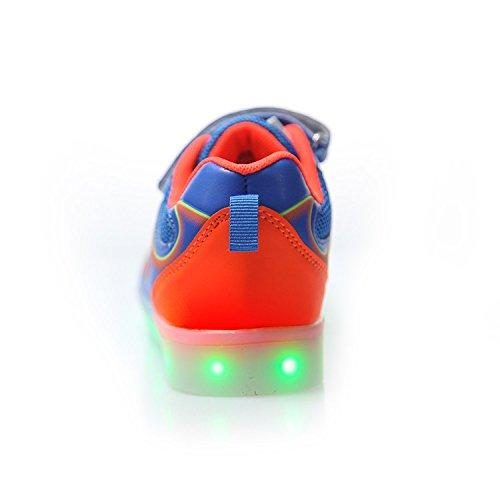 Luci USB Scarpe dei Luce LED Bambino Unisex Sneakers Bright Luminosi Scarpe Led Taglia 7 Suola Scarpe bambini Bambina Scarpe Nella Colore Con Carica Tennis DoGeek di Luci Shoes Blu Una Mejor Con Sneakers WTvYUOFW