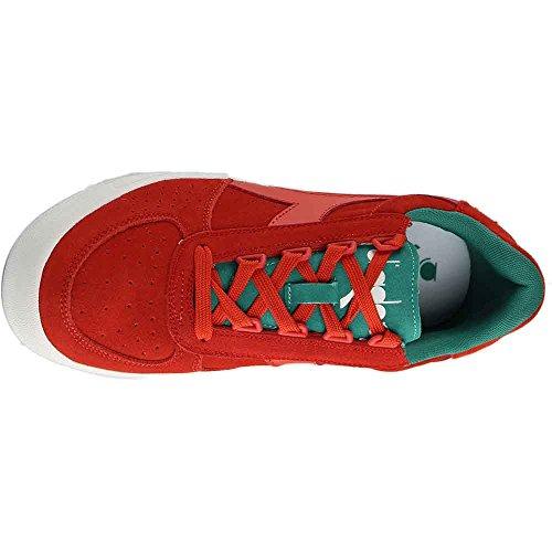 Diadora Heren B. Elite Suede Sneaker Rood