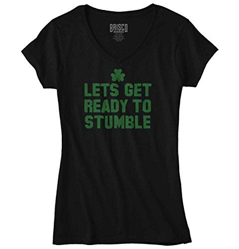St Patricks Day Clothing Ideas (Ready To Stumble Funny Quote Fun Gift Ideas St Patricks Day Junior V-Neck Tee)