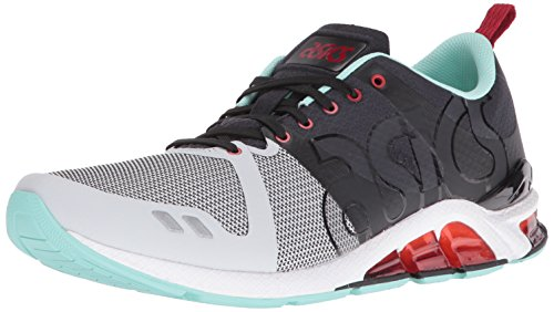 ASICS Men's Gel-Lyte One Eighty Fashion Sneaker, Black/Soft Grey, 9 M US