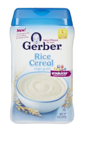 Gerber Rice Cereal for Baby -- 8 oz