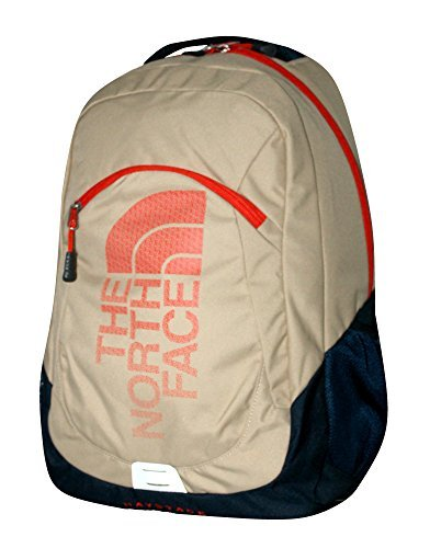 Logo Embroidered Backpack - The North Face Unisex Haystack Laptop Backpack Book Bag (HAW THRONE KHAKI)