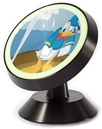 ドナルドダック船に乗る 車載ホルダー 360度回転 マグネット式 粘着式 取付簡単 高級感 おしゃれ かわいい スマホホルダー
