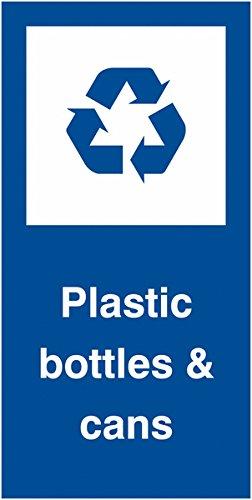 標識およびラベルAMZRLSL09 / S「プラスチックボトル&缶」ラベル、自動接着ビニール、50 mm H、25 mm W(500パック) B0748DHRTD