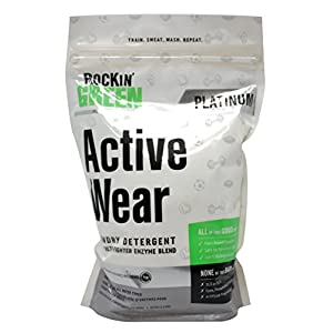 Rockin' Green Platinum Series Active Wear Laundry Detergent Soap for Sportswear, Uniforms, Gear & High Tech Fabrics, 45 oz. (90 Loads), 0.24/load
