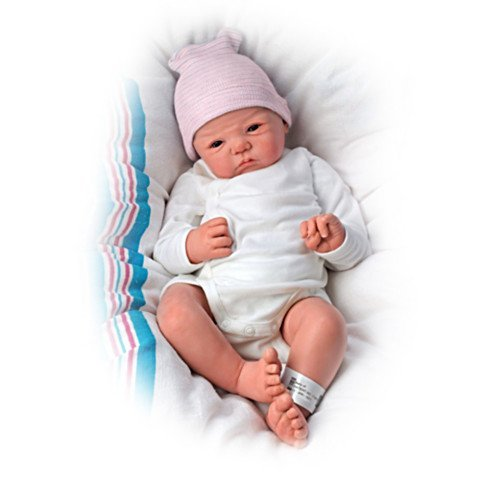 The Ashton-Drake Galleries Sandy Faber Welcome To The World Newborn Baby Girl Doll, 18-Inches