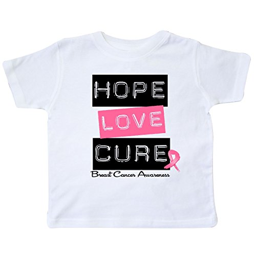 inktastic - Breast Hope Love Cure Toddler T-Shirt 2T White - HDD 26a6b