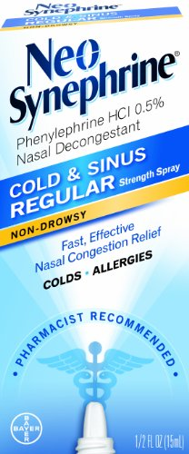 Spray Regular Formula (Neo-Synephrine Nasal Spray , Regular Strength Formula, 0.5-Ounce (Pack of 2))