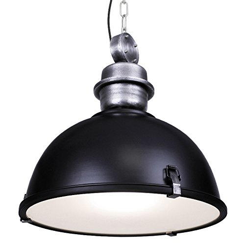 120V Italian Designed Hanging Industrial Pendant (Black) by AQL (Image #3)