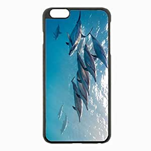 iPhone 6 Plus Black Hardshell Case 5.5inch - dolphin tropical dolphin hawaii ocean water flock Desin Images Protector Back Cover