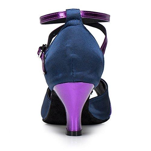 Talon Femmes Peep Salle Des De De Med Sandales Latine Satin Danse Moulantes Tango Violet Minitoo Salsa Qj6120 Toe Bal De Rqzwgg