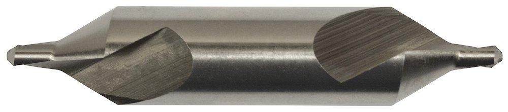 6.0 mm Body Diameter x 2.0 mm Point Diameter Left Hand Magafor 81160620000 M2 H.S.S Center Drill Bit 60 Degree Metric