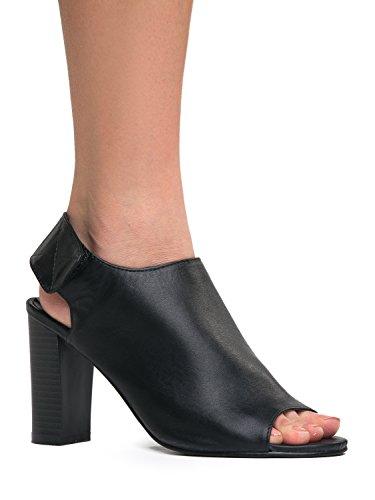 Sarah Ritaglio Bootie Caviglia Strap Nero Marie 11 Aperta stacked Alto Anne Boot Tacco Plateau pU4TfnxwB