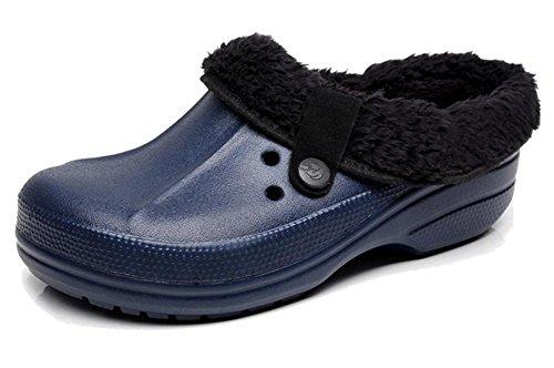43 Calentar Casa amp;XY Hombre Felpa Zapatillas Agujero Zapatos algodón Invierno W v1aTwq